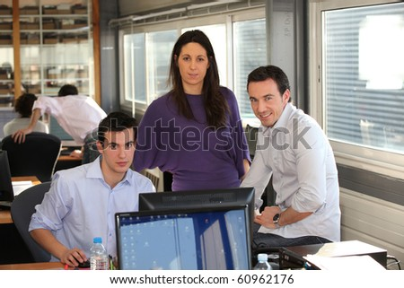 Men and businesswoman in office