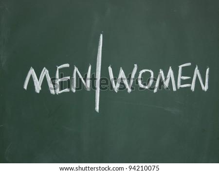 men and women sign