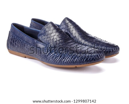 Men blue shoes, casual design on a white background #1299807142