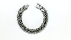 Men Classic Titanium Silver Bracelet