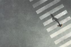 men crossing the street at crossroads
