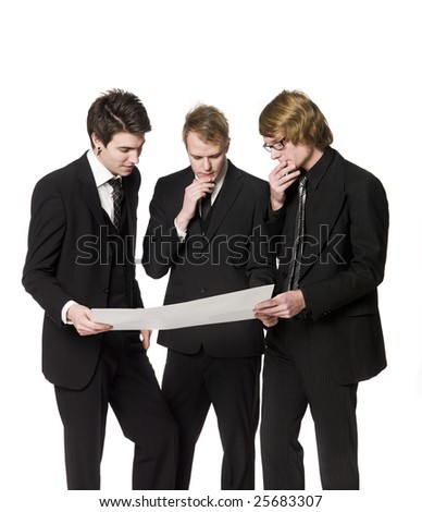Men discussing a plan - stock photo