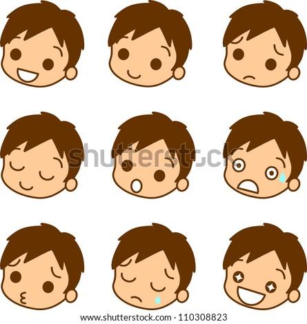 Men facial expression icon