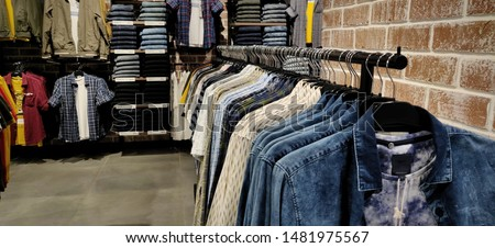 Men Fashion clothing retail apparel industry store fixtures display