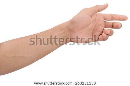 Men hands sign isolated is on white background #260231138