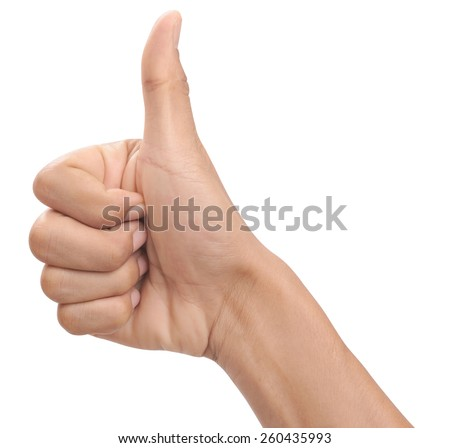 Men hands sign isolated is on white background #260435993