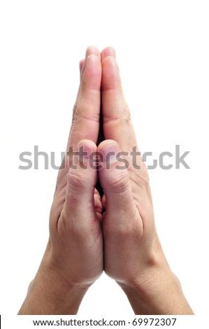 men hands together symbolizing prayer and gratitude
