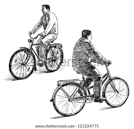 men on a bicycles