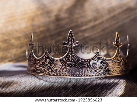 Men royal medevial crown, symbol of power and success. Сток-фото ©