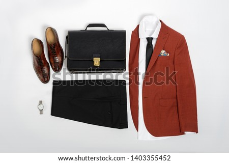 6ca66bcf Men's casual outfits for man clothing set wit suit, trousers, socks, shirt,