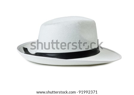 Men's classic hat isolated on white background