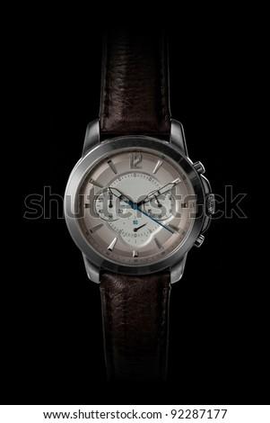 men's classic watch on black