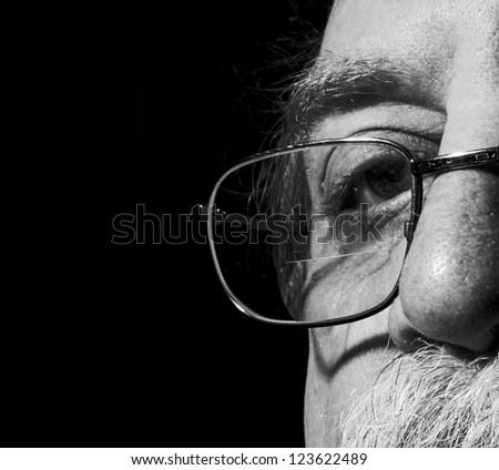 men's eye and eye glass
