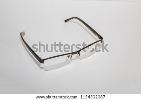 Men's Eye Glasses on white background