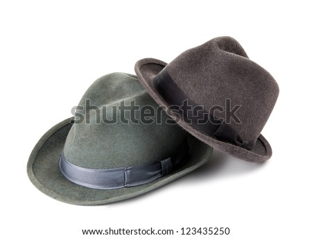 Men's hat isolated on white background