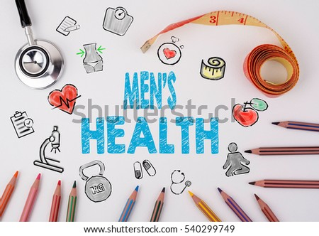 Men's Health concept. Healty lifestyle background
