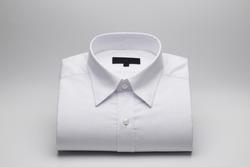 Men's shirts Folded on a white background