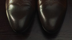 Men's shoes closeup