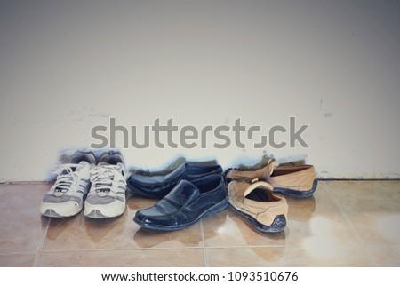 Men's shoes on the floor. #1093510676