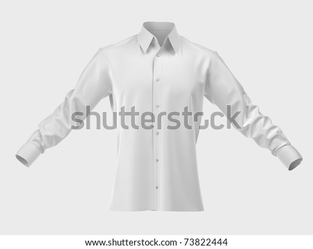 Men's silk shirt isolated on white. Cut Out. Clothing collection