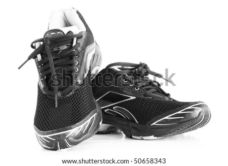 Men's sports shoes on a white background