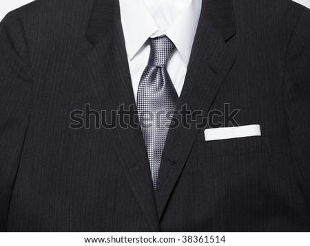 Men\'s suit with pocket square