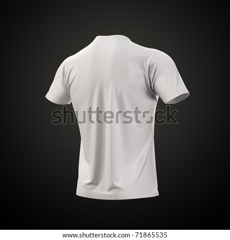 Men's T-shirt with clipping path. Collection Clothing