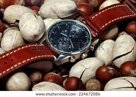 men\'s watches are on the nuts