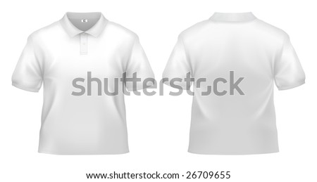 Men's white polo shirt design template (clipping path).