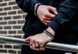 Men's women's bracelets on hand
