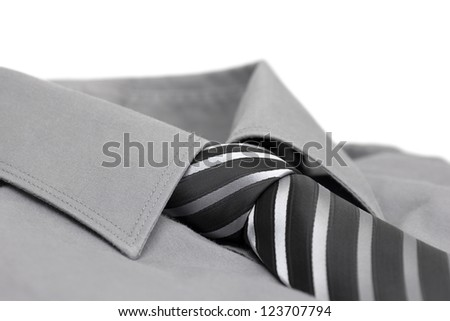 Men shirt with necktie #123707794