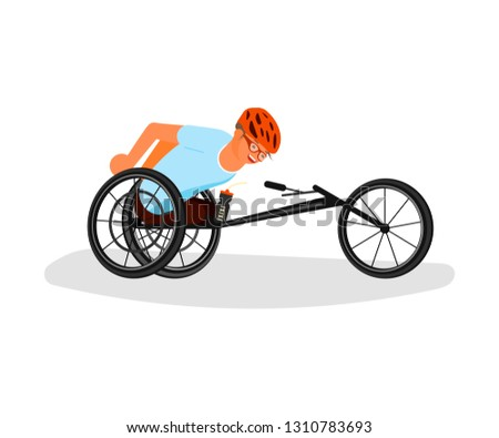 Men sportsmen with incapability. Sport for Disabled people with disabilities and prosthesis. Rastered copy