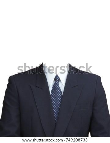 Men Suit Navy blue Necktie Navy blue Template #749208733