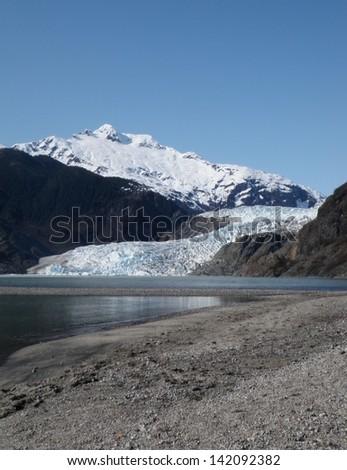 Mendenhall Glacier at Juneau Alaska