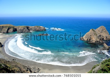 Mendocino coastline, near CA state route 1