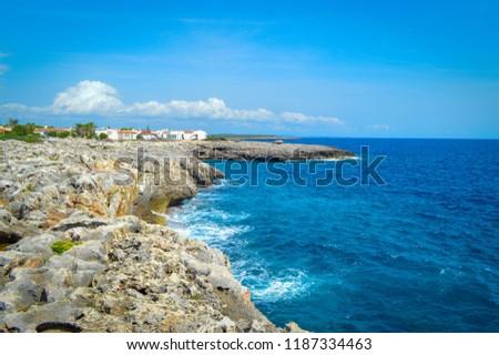 Menorca Lighthouse Cap de Artrutx cala n'bosch. Cami de Cavalls Foto stock ©