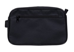 Mens cosmetic bag for hygiene supplies, isolated on white background.