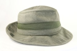Mens outback cotton hat isolated on white background