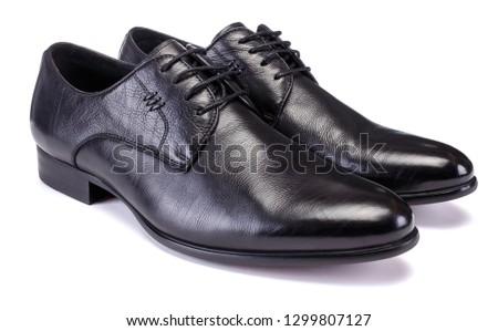 Mens oxford style shoe on white background #1299807127