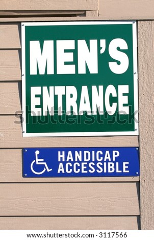 Mens Restroom Entrance Sign