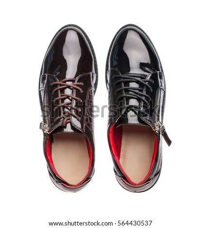 mens shoes on white background isolated #564430537