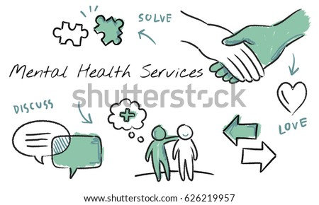 Mental health care sketch diagram