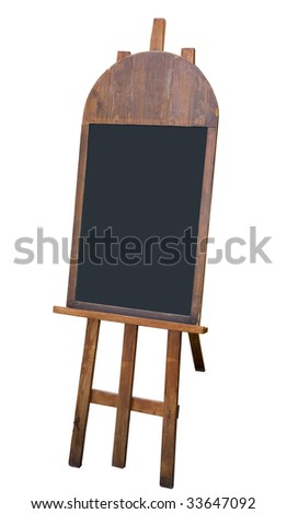 Menu board left blank for your message