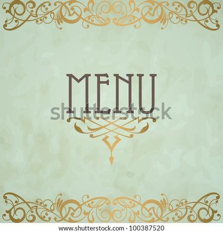 Menu cover vector design. Raster version of the loaded vector