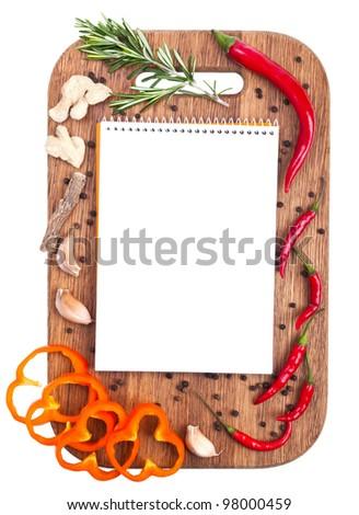 Menu design culinary background