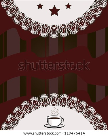 Menu for restaurant, cafe, bar, coffeehouse - stock photo