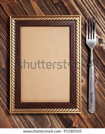 Menu on the wooden board