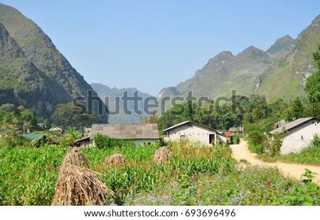 Meo Vac town, Ha Giang, Vietnam