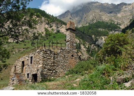 Meollion old village The national park of Ecrin (100000 ha.) is home to chamois, ibex, marmots… (Alpes-France).