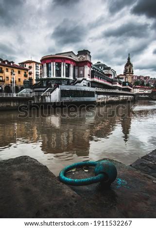 Mercado de la Ribera in Bilbao, Bizkaia, Basque country, Spain. Foto stock ©